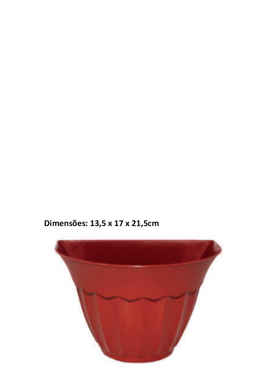 Cachepot Parede Terracota Inplast Ref. 6844