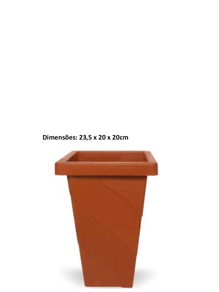 Vaso Elegance Quadrado de 4,5 Litros Terracota Inplast Ref. 6848