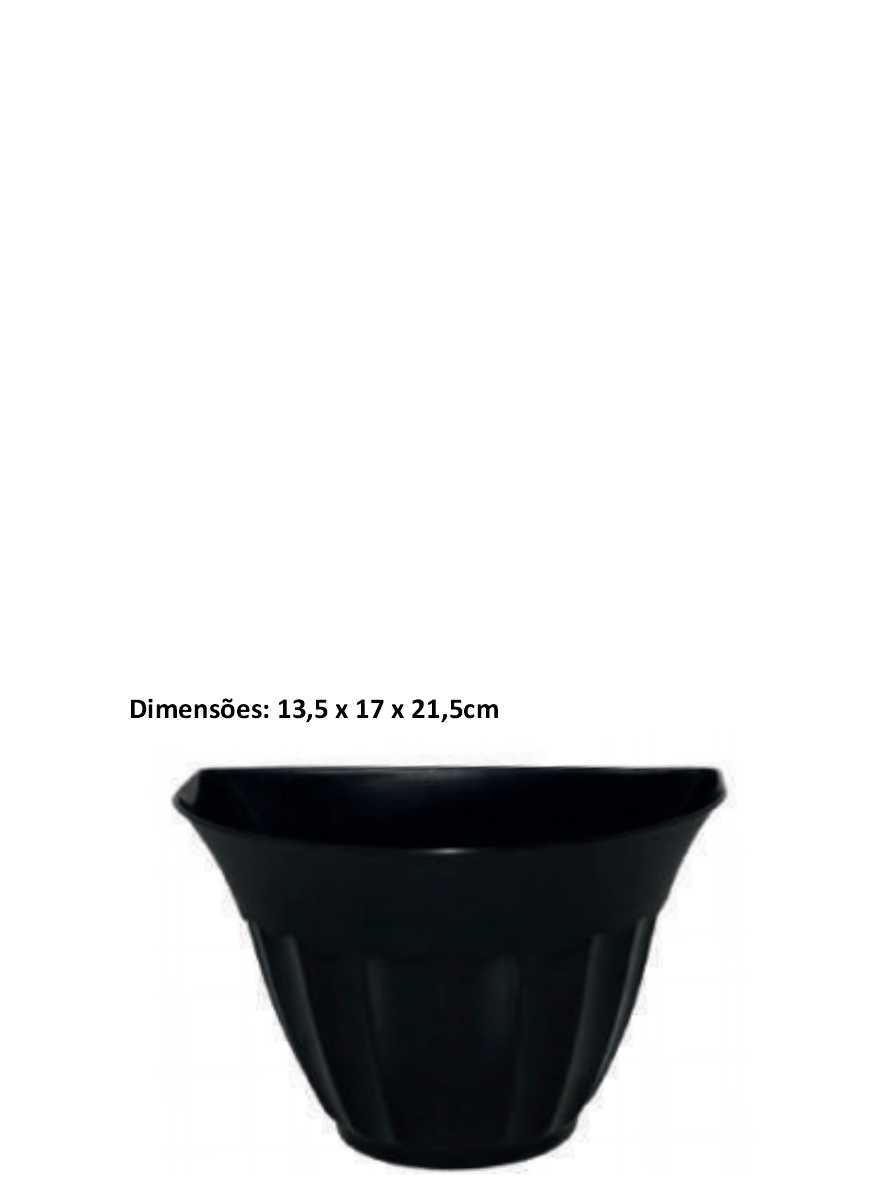 Cachepot Parede Preto Inplast Ref. 6843