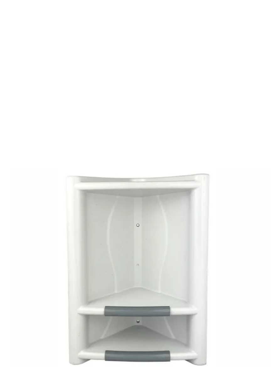 Cantoneira Para Shampoo e Sabonete Branca Arqplast Ref. 3012