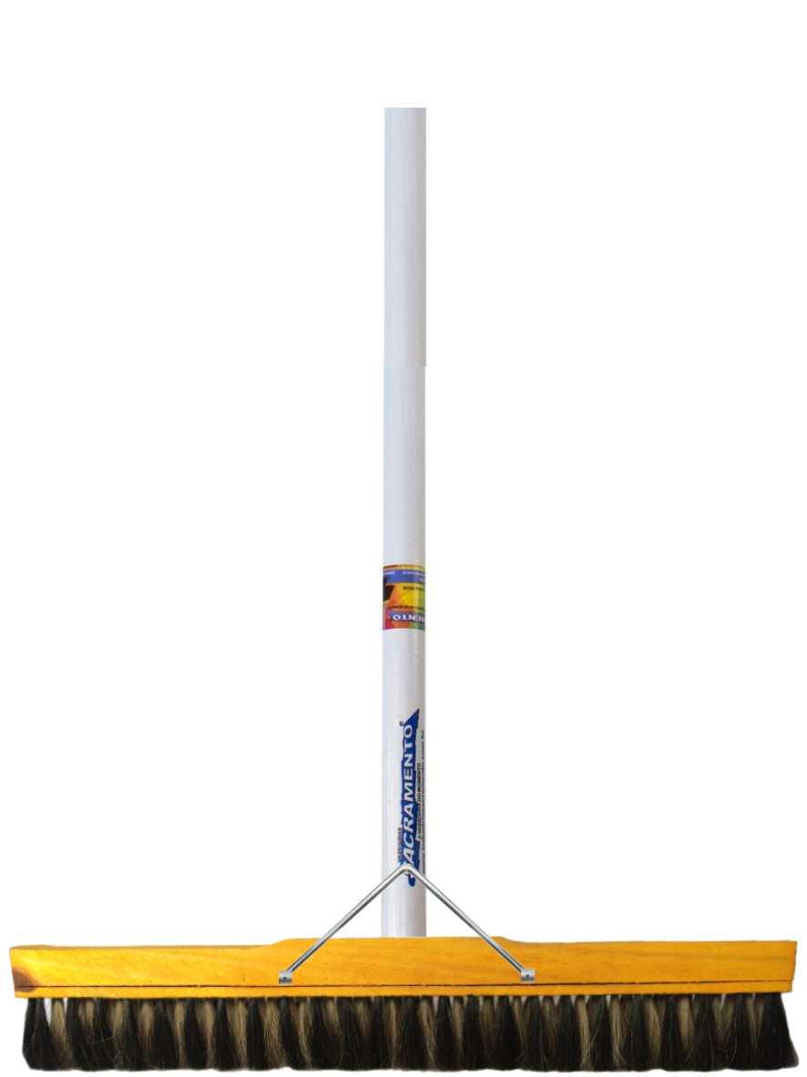 Vassoura de Pelo Animal 60cm + Suporte com Cabo Ref. 23