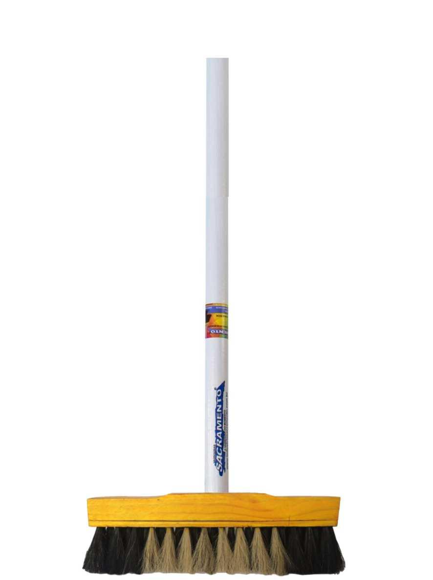 Vassoura de Pelo Animal 30cm com Cabo Ref. 11