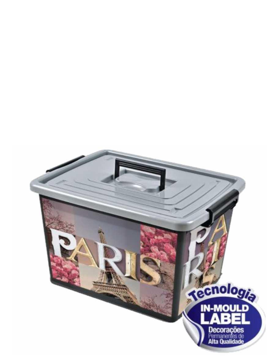 Container Organizador de 30 Litros Label Cidades Arqplast Ref. 6744